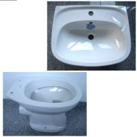 13. Special KERAMAG bathroom set washbasin 55cm + WC in white