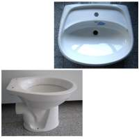 14. Special brands BATHROOM SET washbasin 55 / 65cm + WC in White