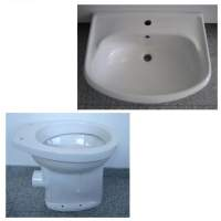16. Special SPHINX bathroom set washbasin 60cm + WC in White